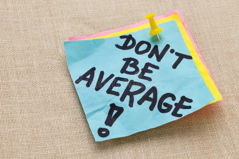 genomsnittet är gör motivation inte arkivfoton
