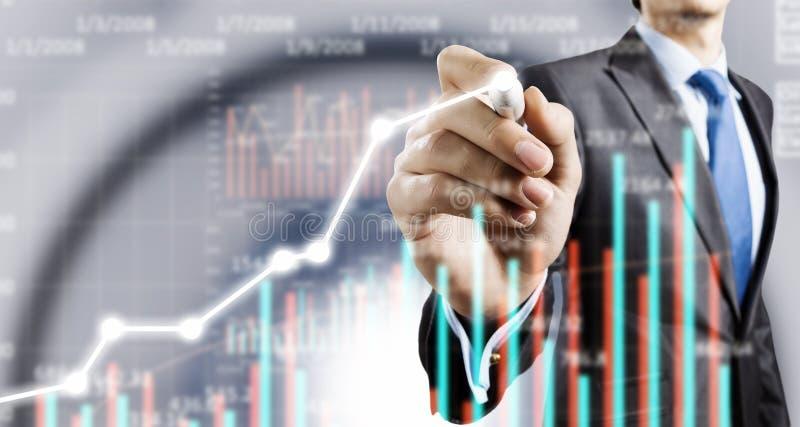 Genomsnittlig försäljningsrapport arkivfoton