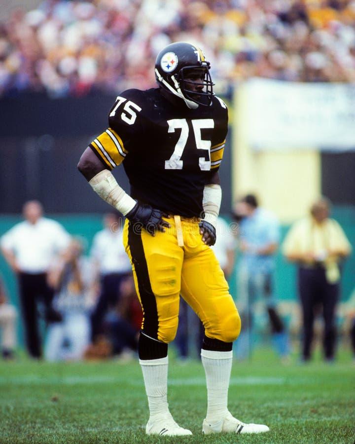 Genomsnittliga Joe Greene, Pittsburgh Steelers royaltyfria bilder