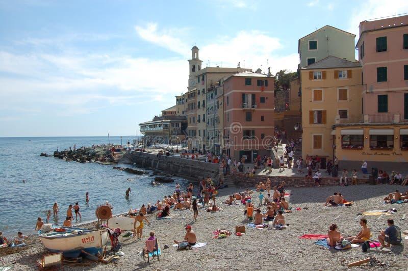 Genova, Boccadasse. Genova e il borgo di Boccadasse stock images