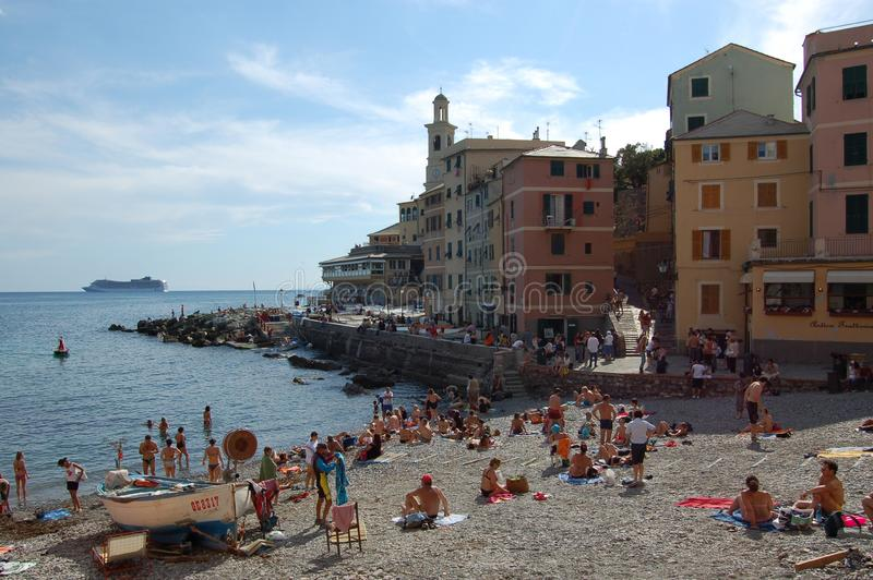 Genova, Boccadasse. Genova il quartiere di Boccadasse stock photography