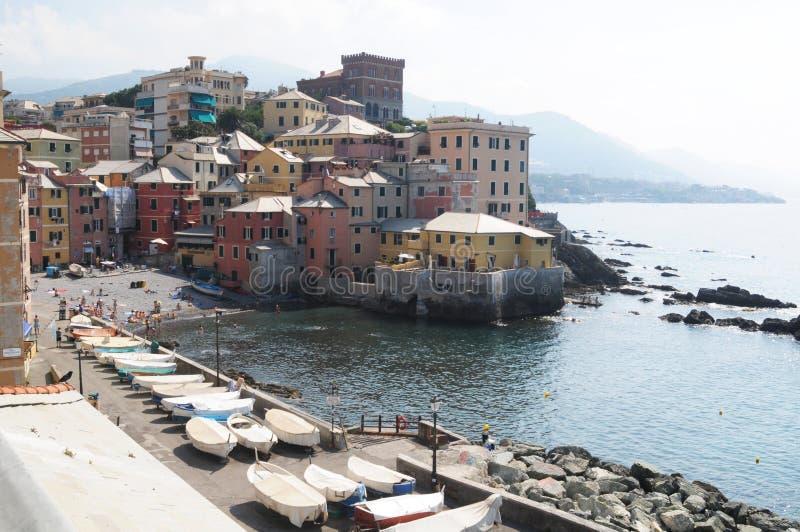 Genova, Boccadasse. Genova, the old borgo of Boccadasse royalty free stock images