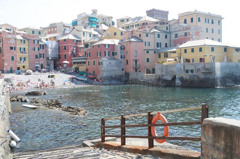 Genova, Boccadasse. Genova,the old borgo of Boccadasse stock photo