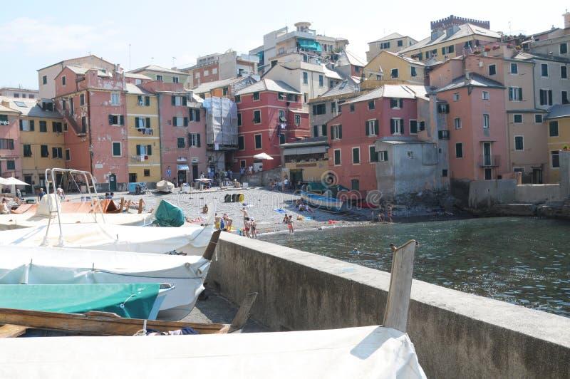 Genova, Boccadasse. Genova il borgo di Boccadasse stock photos