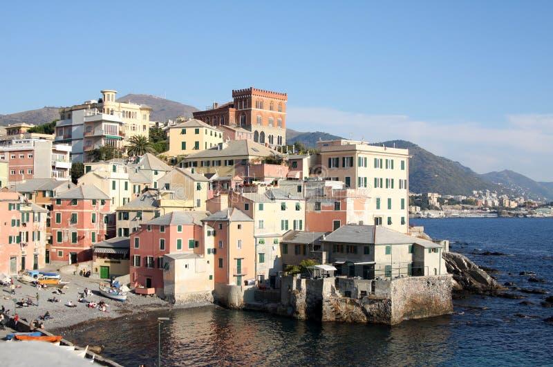 Genova coast stock image