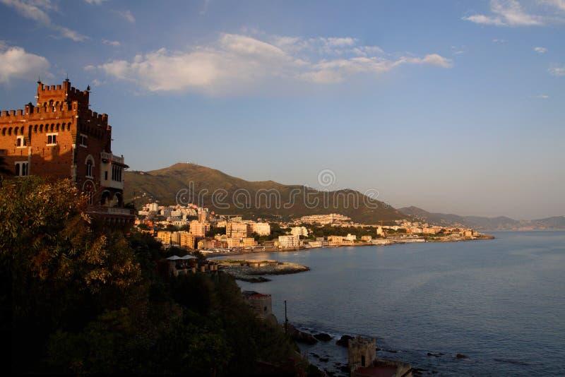 Genova - durante il tramonto immagine stock libera da diritti