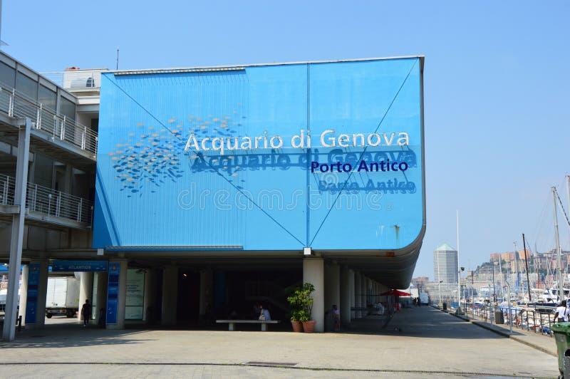GENOVA, ITALIA - 15 GIUGNO 2017: L'acquario di Genova è il più grande acquario in Italia e fra il più grande in Europa fotografie stock