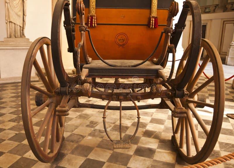 Genova, Italia - Royal Palace, dettaglio antico della vettura fotografie stock