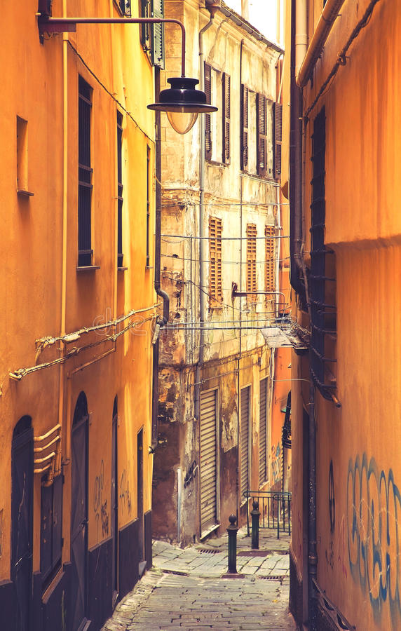 Genova, Italia - vecchia città fotografie stock libere da diritti