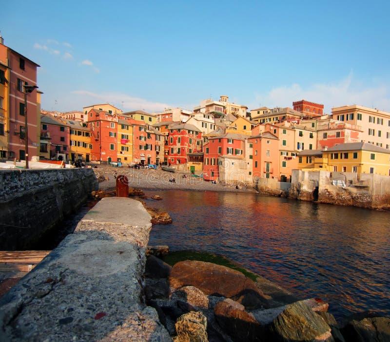 Genova, Italy. Old Fishing Village by Genova, Italy royalty free stock photography