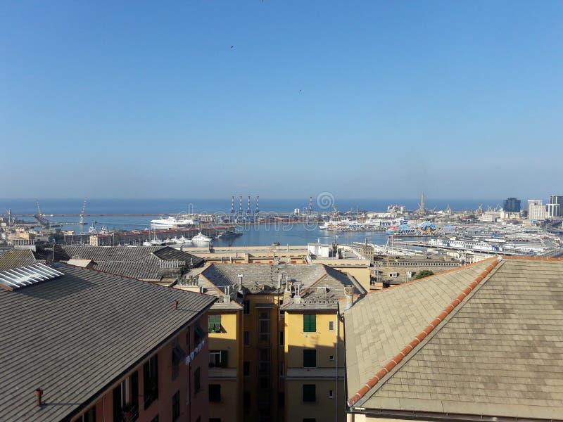 Genova Italy. Water Sky Blue stock photo