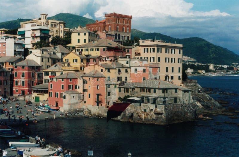 Genova, Boccadasse. Genova,veduta del borgo di Boccadasse stock image