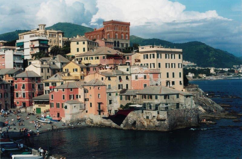 Genova, Boccadasse. Genova,veduta del borgo di Boccadasse stock photos