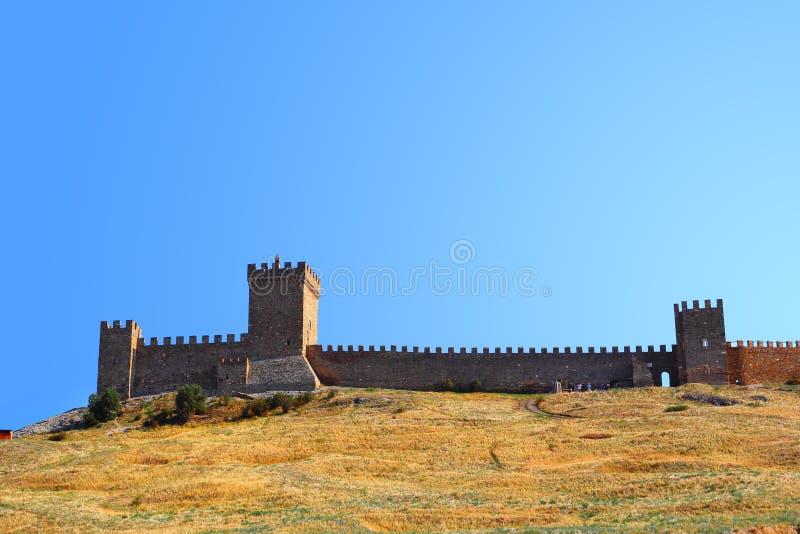 Genovese fästning royaltyfria bilder