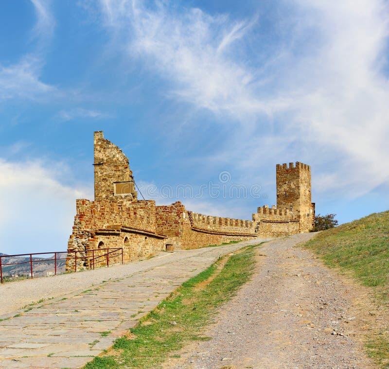 Genovese fästning royaltyfri bild