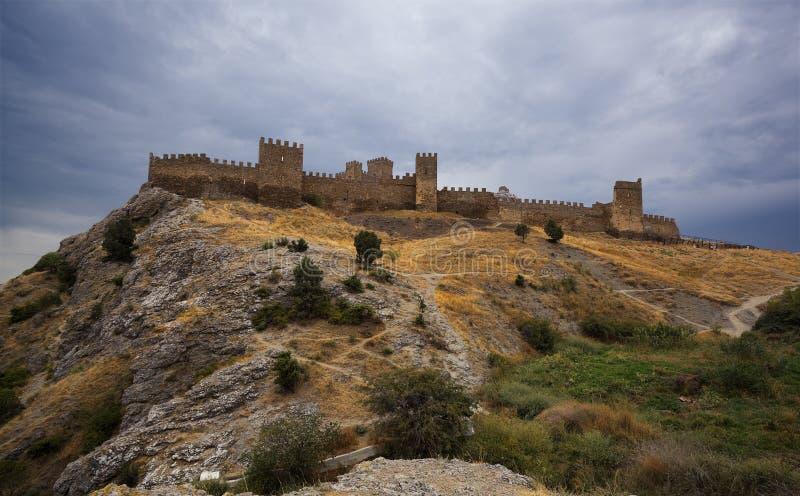 Genovese fästning arkivfoton