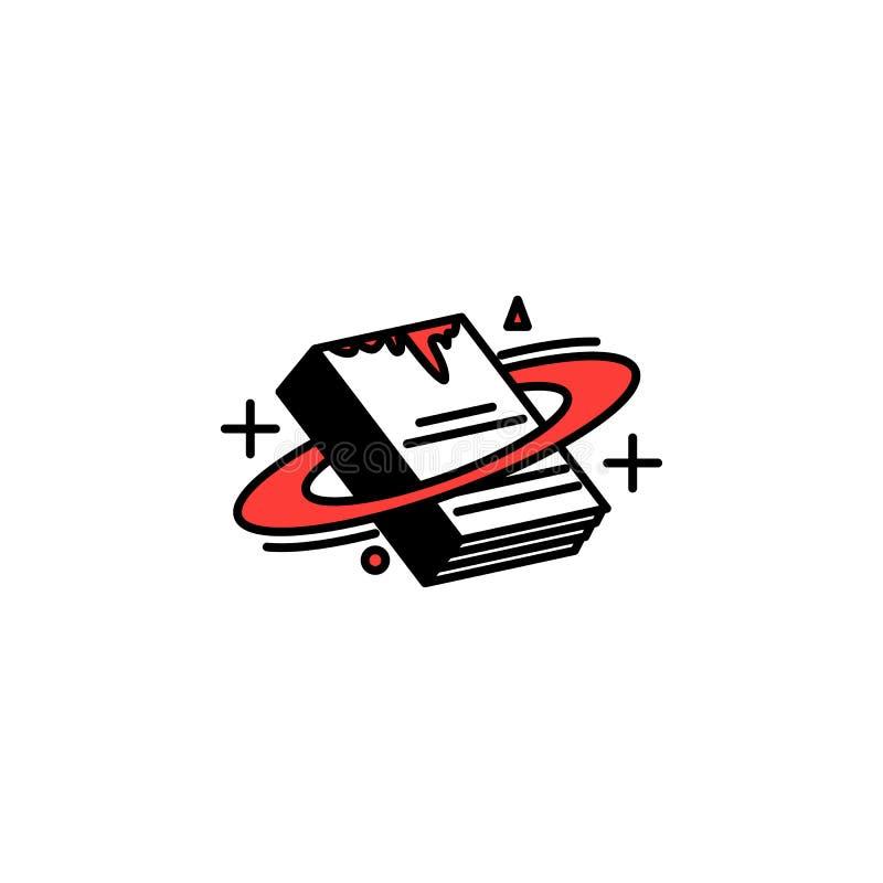 Genre bok, vetenskapssymbol Beståndsdel av symbolen för litterära genrer för mobila begrepps- och rengöringsdukapps Den specifice royaltyfri illustrationer