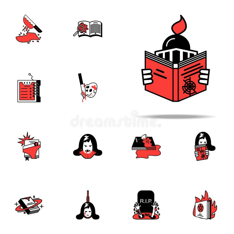 Genre, book, navigation icon. Literary genres icons universal set for web and mobile. On white background royalty free illustration