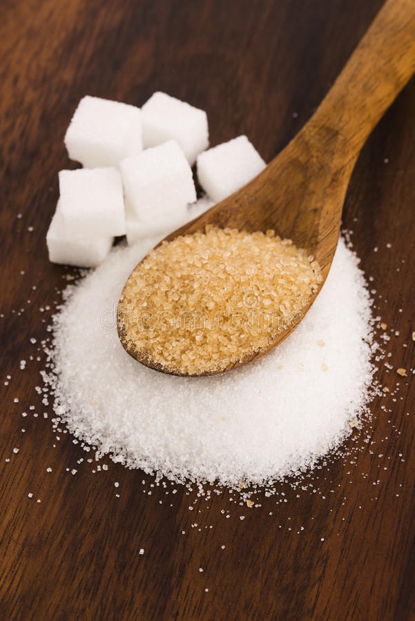 Genre de Difrent de sucre photo stock