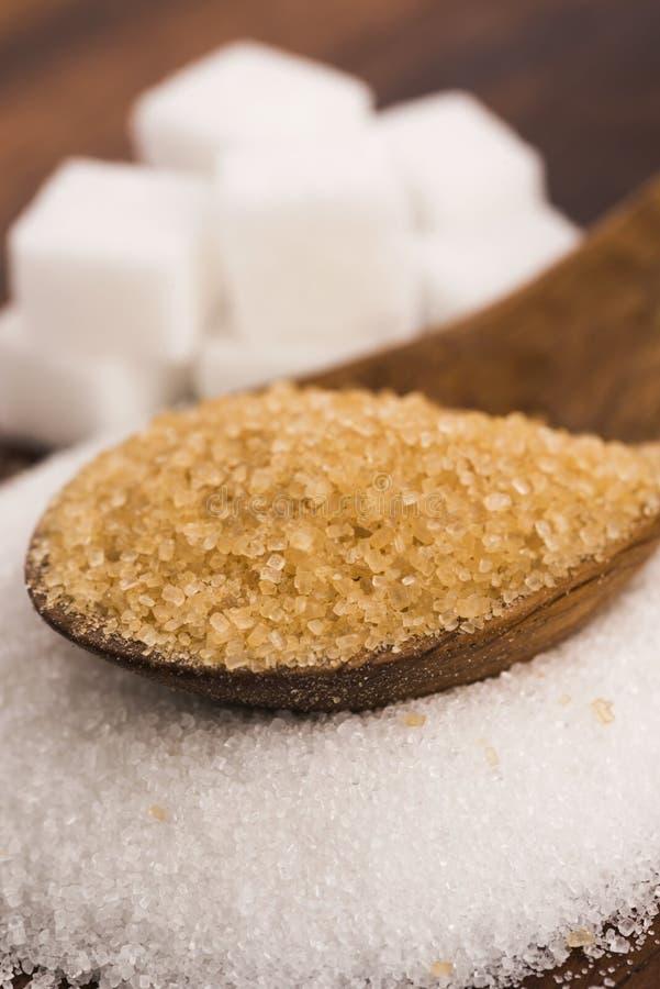 Genre de Difrent de sucre photographie stock libre de droits