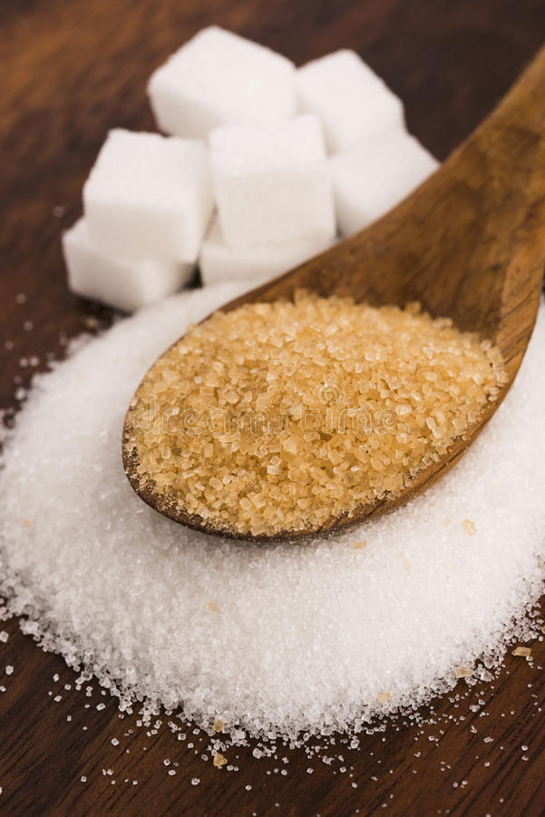 Genre de Difrent de sucre photos libres de droits