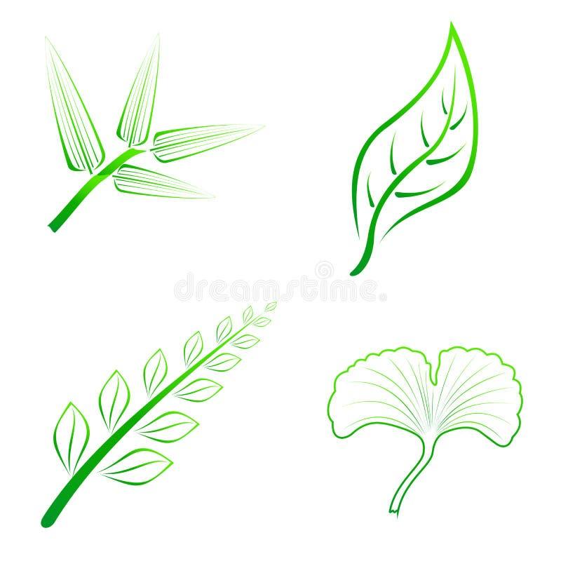 Genre de quatre feuilles illustration stock