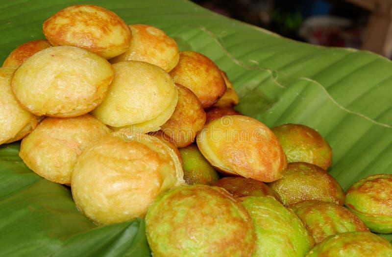 Genre de sucreries thaïlandaises - krok de Kanom images libres de droits