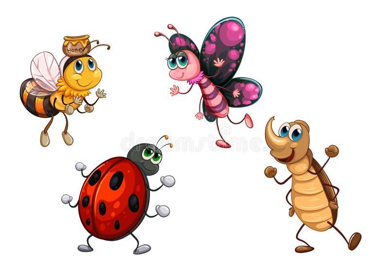 Genre différent d'insectes illustration stock