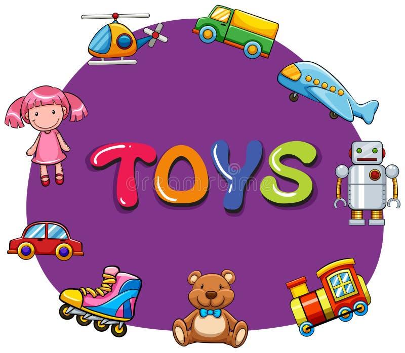 Genre différent de jouets illustration stock
