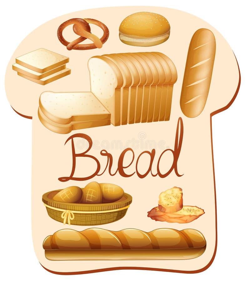 Genre différent de pain illustration stock