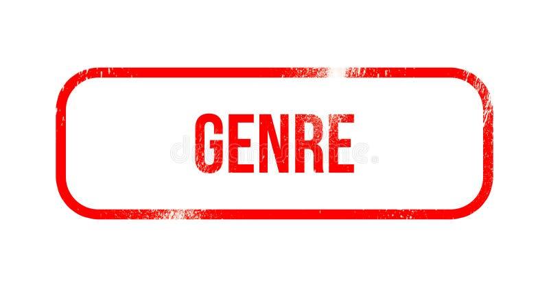 Genre - red grunge rubber, stamp.  royalty free illustration
