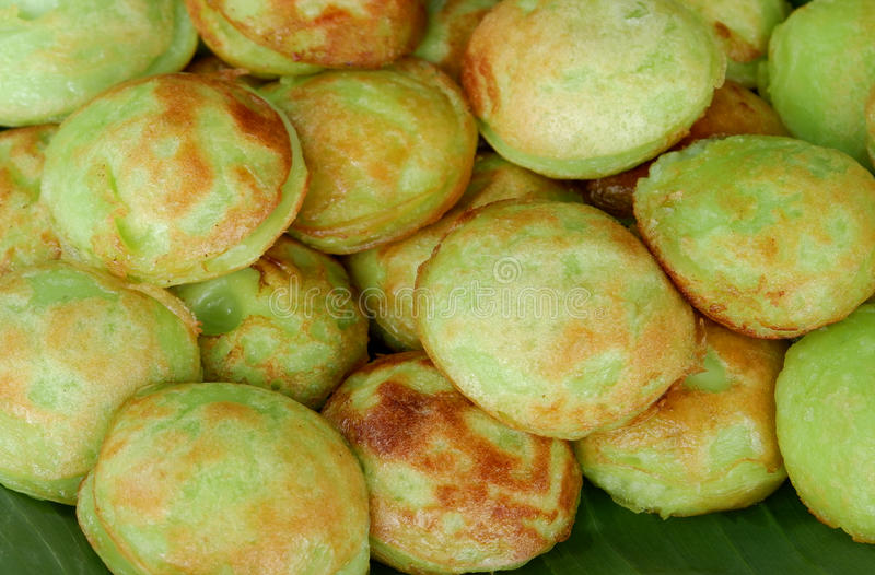 Genre vert de Pandan de sucreries thaïlandaises photo stock