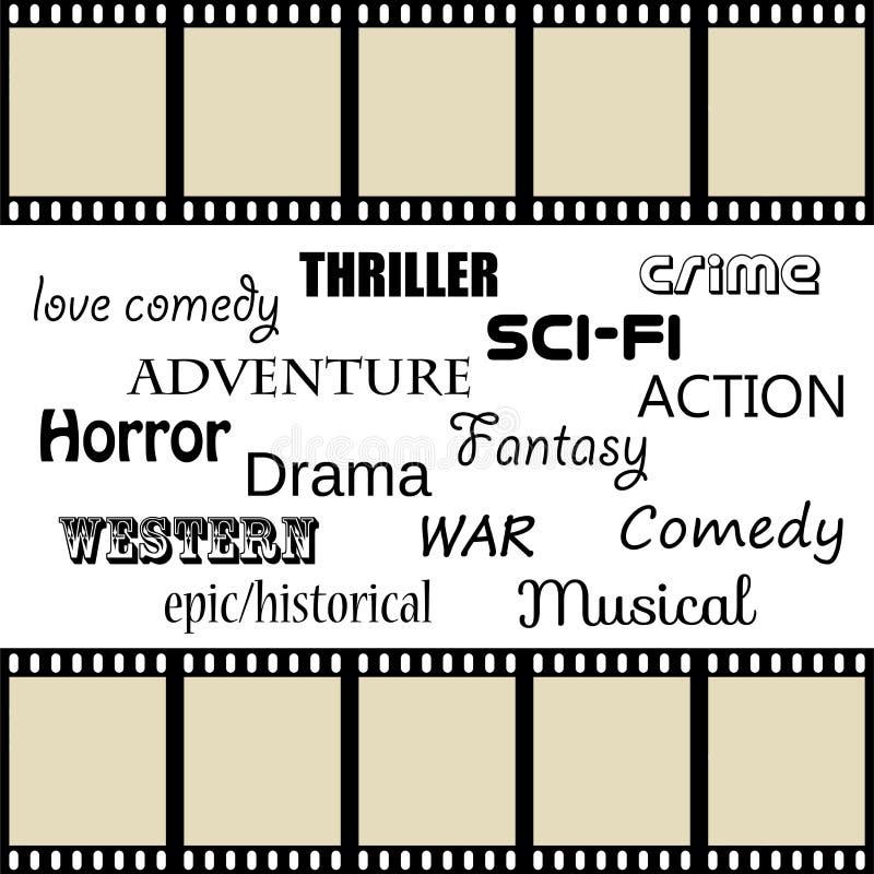 Genres de film illustration stock