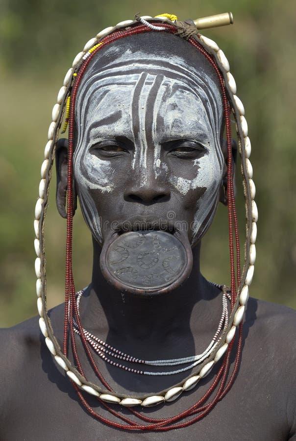 Gens africains 3 de Mursi image libre de droits