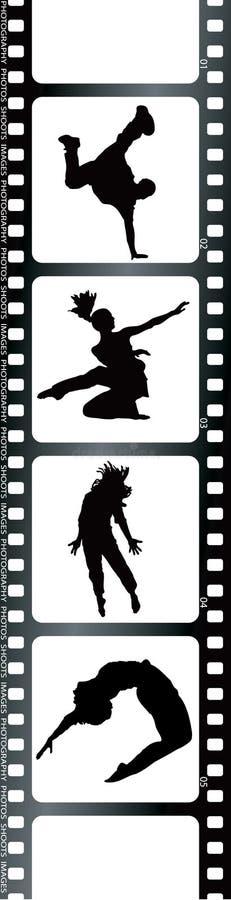 Gens blancs de film illustration de vecteur