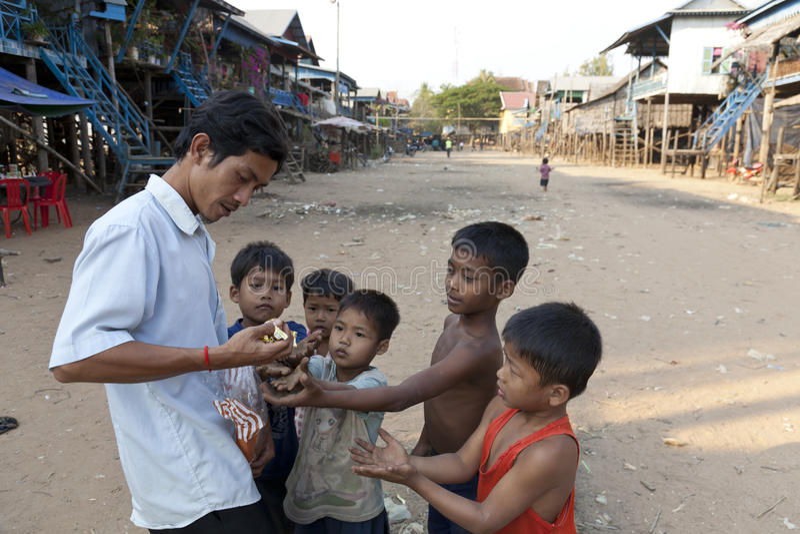 Gens cambodgiens photographie stock