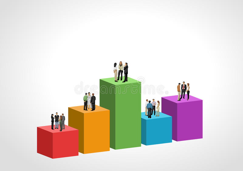 Gens d'affaires au-dessus de diagramme illustration libre de droits