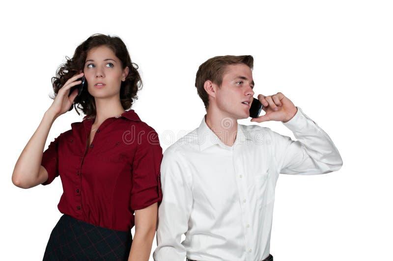 Gens d'affaires au téléphone photographie stock