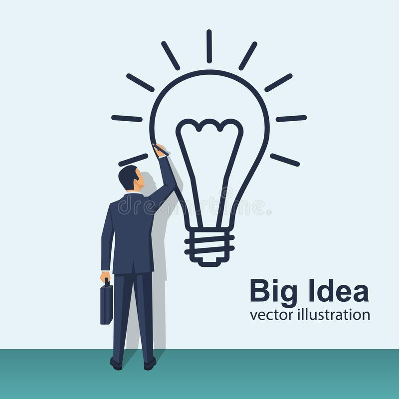 Gens d'affaires créatifs de grand concept d'idée illustration stock