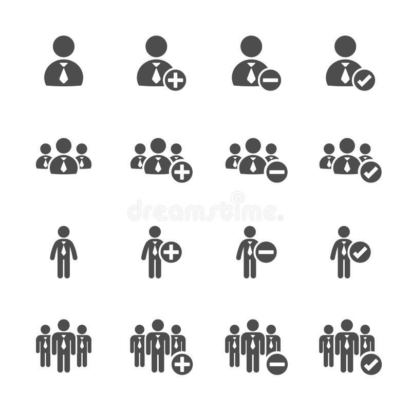 Gens d'affaires d'ensemble d'icône, vecteur eps10 illustration de vecteur