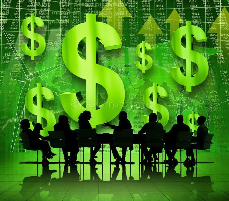 Gens d'affaires dans la discussion financière photographie stock libre de droits