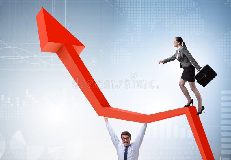 Gens d'affaires dans le concept d'affaires de reprise ?conomique photographie stock libre de droits