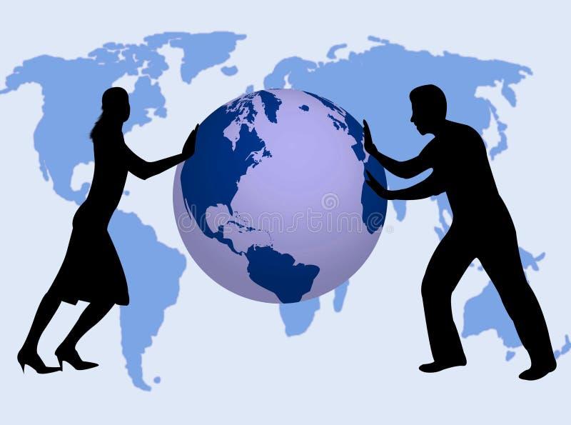 Gens d'affaires dans le monde illustration libre de droits