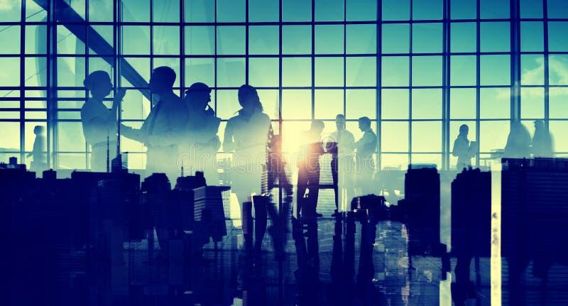 Gens d'affaires de communication de réunion de discussion de concept de bureau image libre de droits