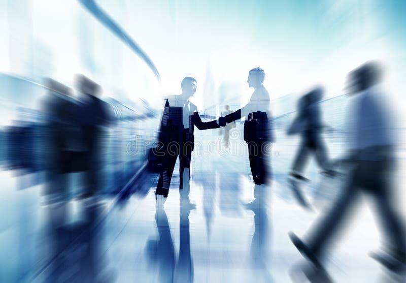 Gens d'affaires de concept d'entreprise d'accord d'association de poignée de main image libre de droits