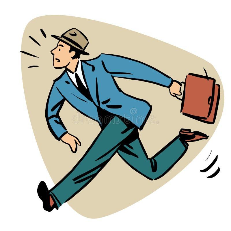 Gens d'affaires de concept de runn d'homme d'affaires défunts illustration libre de droits