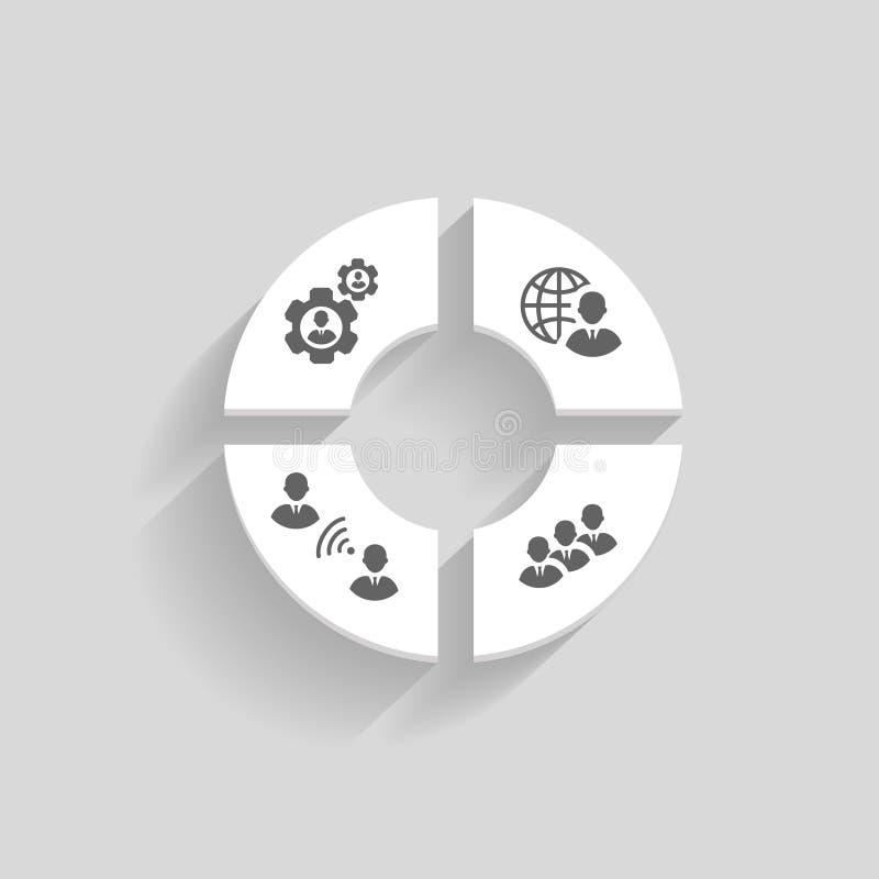 Gens d'affaires de concept en ligne de réunion illustration libre de droits