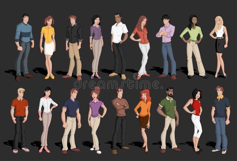 Gens d'affaires de dessin animé illustration de vecteur