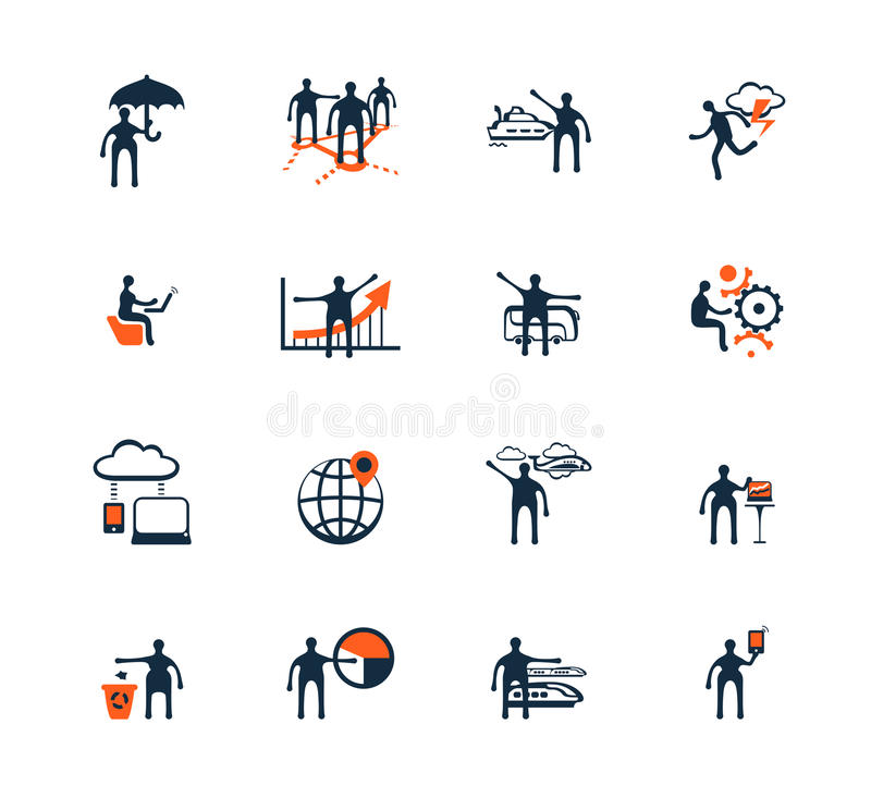 Gens d'affaires de graphismes Gestion, ressources humaines illustration de vecteur