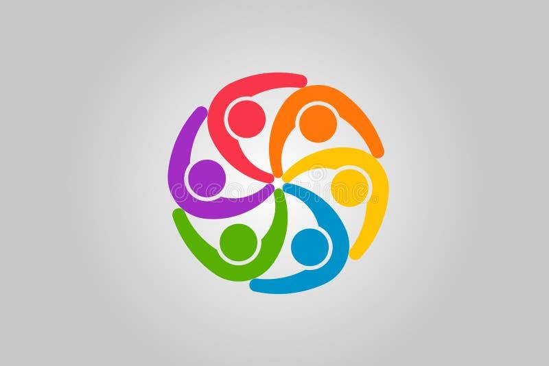 Gens d'affaires de logo Conception de vecteur illustration stock